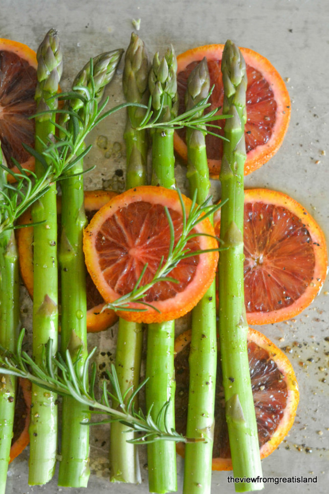 Asparagus Roasted with Blood Oranges 4