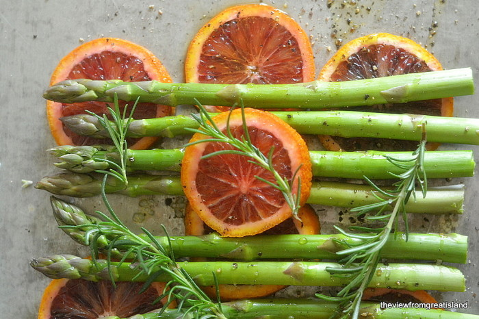Asparagus Roasted with Blood Oranges 7