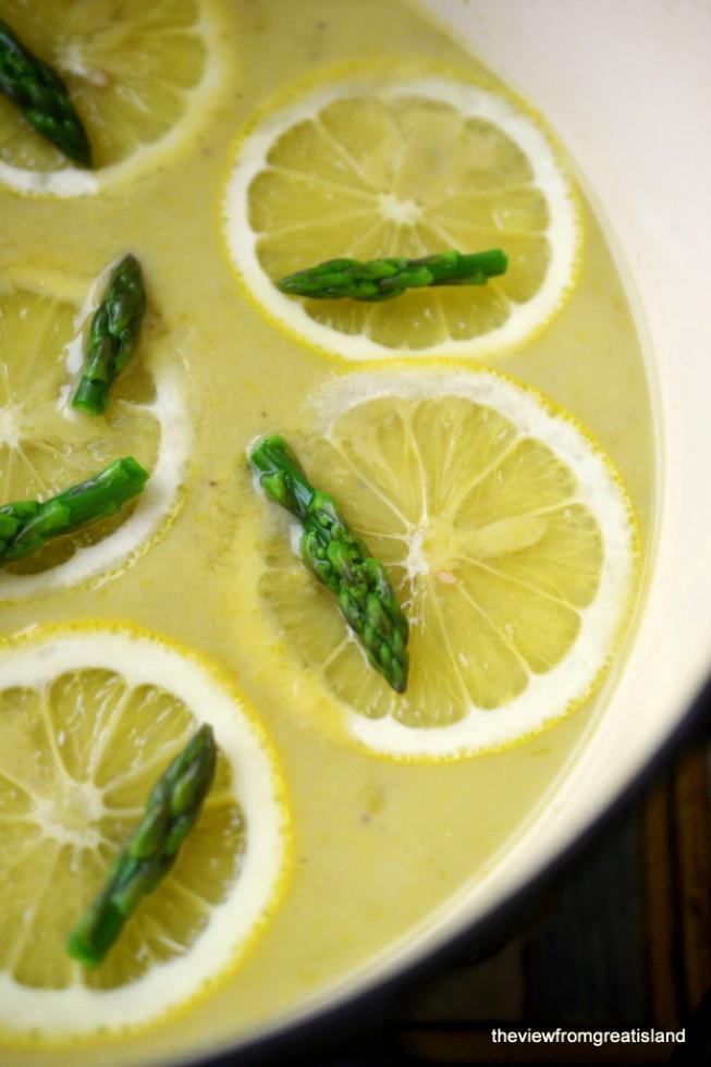 lemony asparagus soup 8