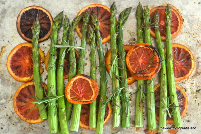 Asparagus Roasted with Blood Oranges 5