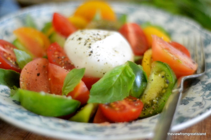 Tomato Salad with Burrata Cheese 13