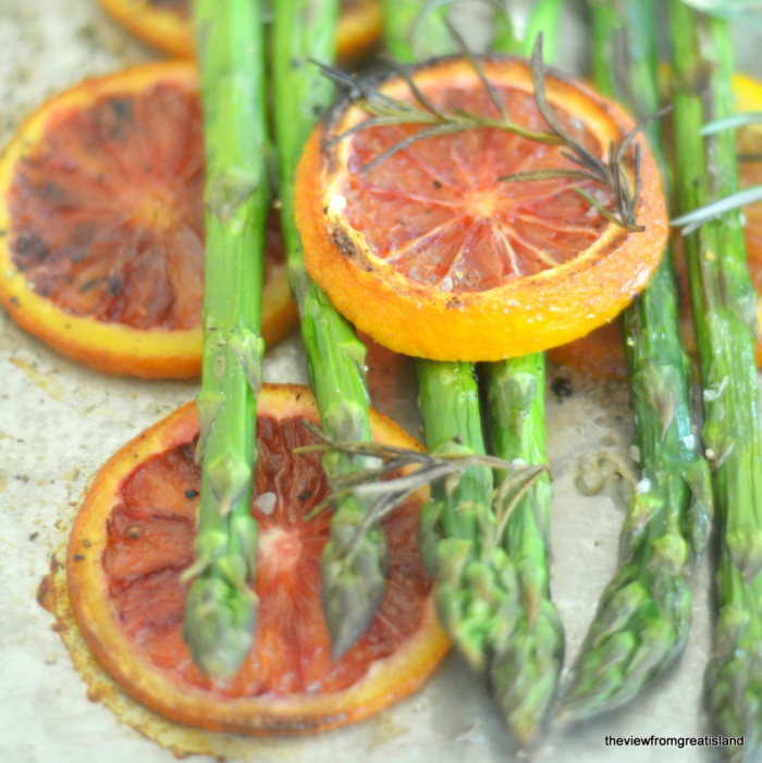 Asparagus Roasted with Blood Oranges 8