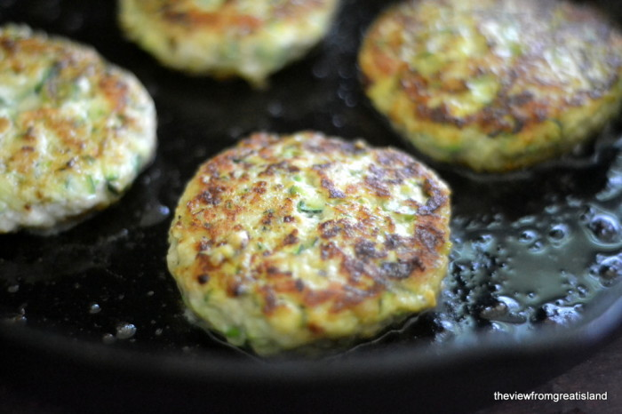 Turkey & Zucchini Burgers with Green Onion and Cumin 2