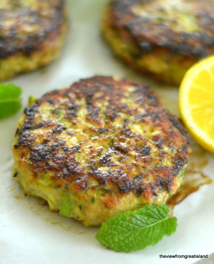Turkey and Zucchini Burgers with Green Onion and Cumin - The View from ...