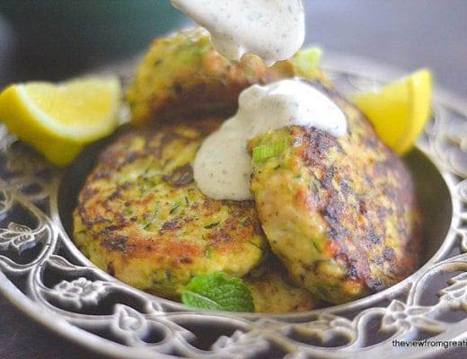 Turkey & Zucchini Burgers with Green Onion and Cumin 1