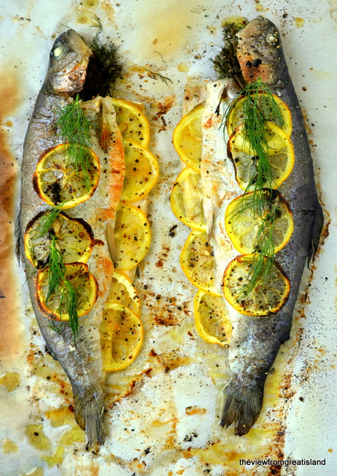 Whole Trout with Herb Salsa 2