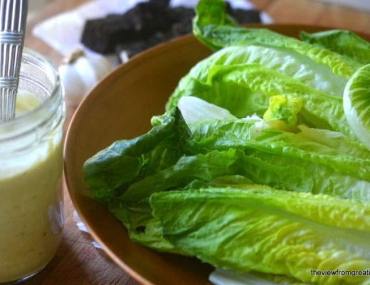 Authentic Caesar Dressing in 30 Seconds --- this creamy, rich salad dressing comes together almost instantly using your immersion blender...it's a real game changer!