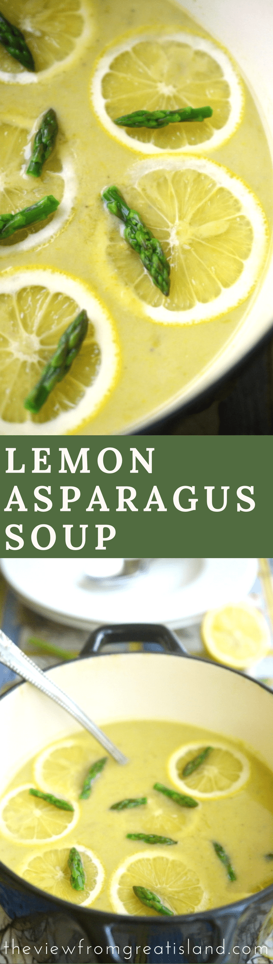 This soup will give you another excuse to gorge on the fresh, in-season asparagus available this time of year. It's just the picture of spring, if you ask me. #soup #asparagussoup #asparagus #springsoup #springrecipe #healthysouprecipe #lemonasparagussoup #glutenfree