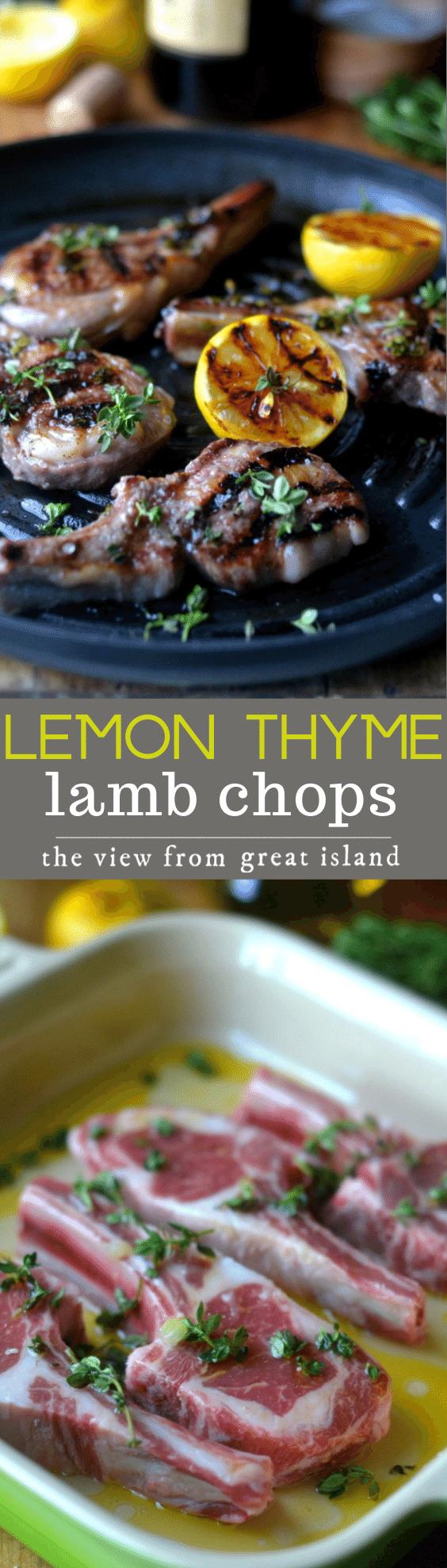 lemon thyme lamb chops pin