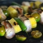 Mahi Mahi Skewers with Jalapeño, Key Lime, and Pineapple