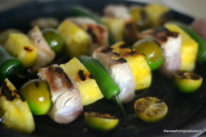 Mahi Mahi Skewers with Jalapeno, Key Lime, and Pineapple 3