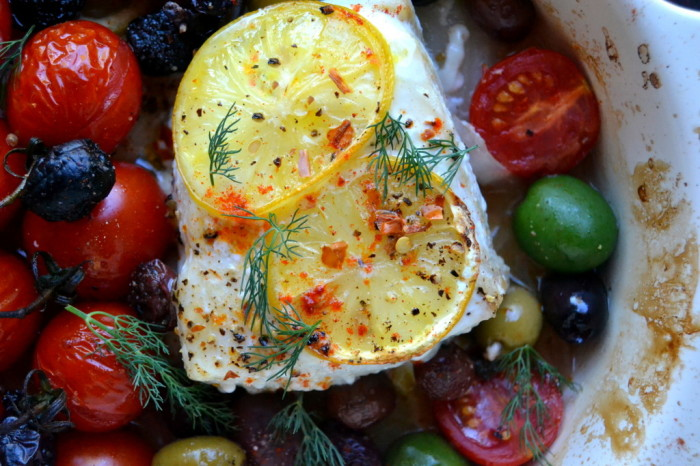 Easy Greek Style Baked Fish 2