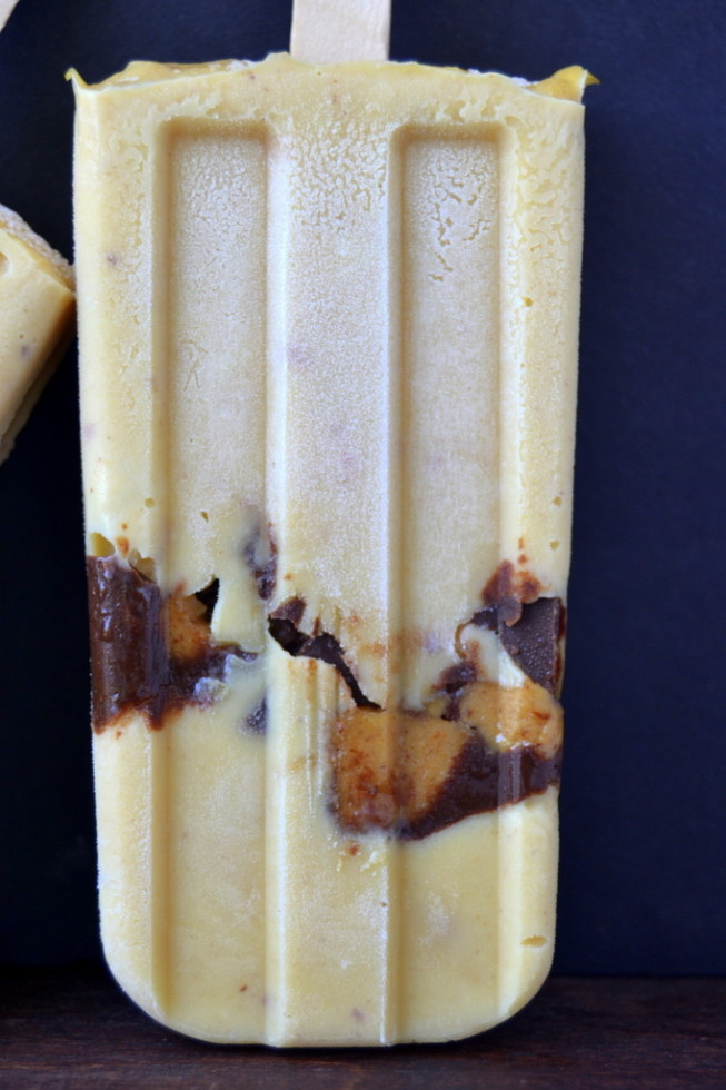 chunky peanut butter cup pudding popsicles
