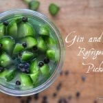 Gin and Tonic Refrigerator Pickles