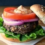 Red Quinoa and Black Bean Veggie Burgers