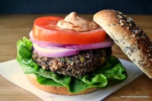 Red Quinoa and Black Bean Veggie Burgers| The View from Great Island 5