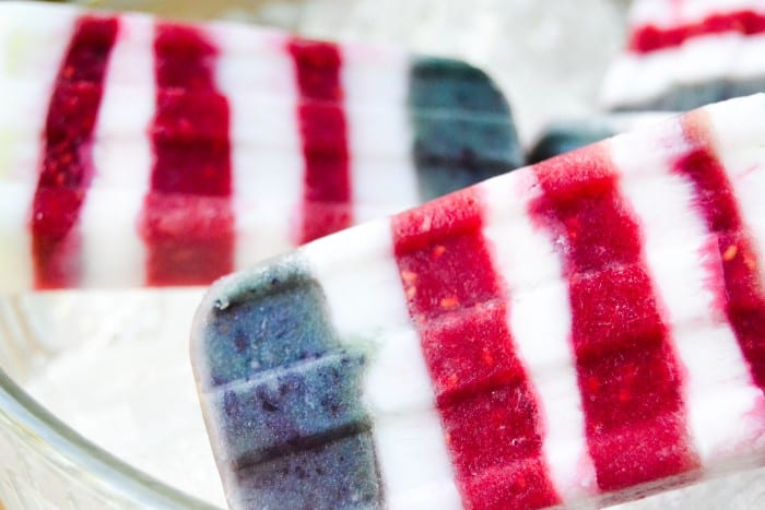 Red White and Blueberry Popsicles are a healthy way to show your colors this summer! | theviewfromgreatisland.com