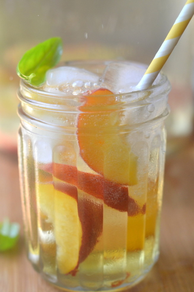 Summer Peach and Basil Sangria 2