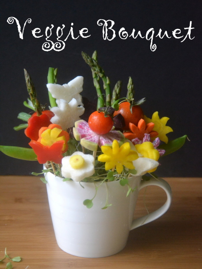 How to Make Veggie Flower Bouquets