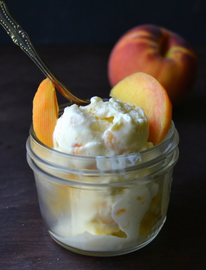 Old Fashioned Peach Buttermilk Ice Cream - The View from Great Island