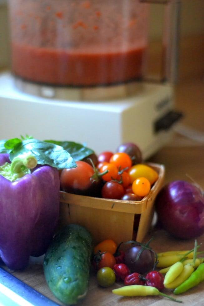 Vegetables for Gazpacho