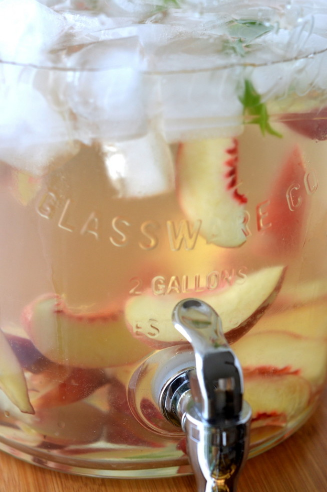 Summer Peach and Basil Sangria 4