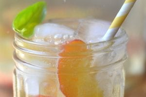 Peach and Basil Sangria