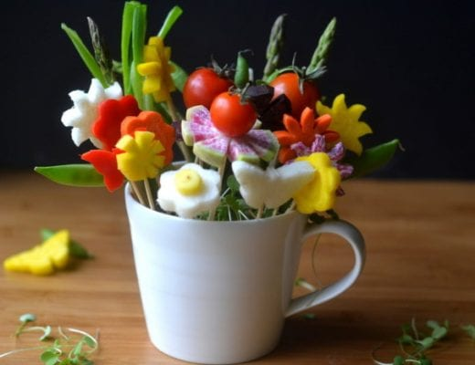 How to Make Veggie Flower Bouquets 14