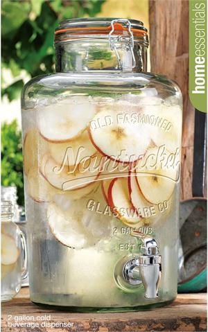 nantucket vintage glass jar dispenser