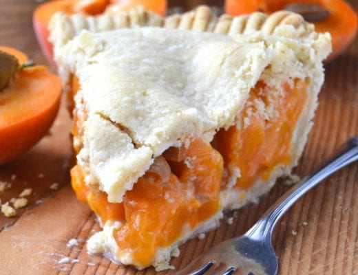 a slice of apricot pie