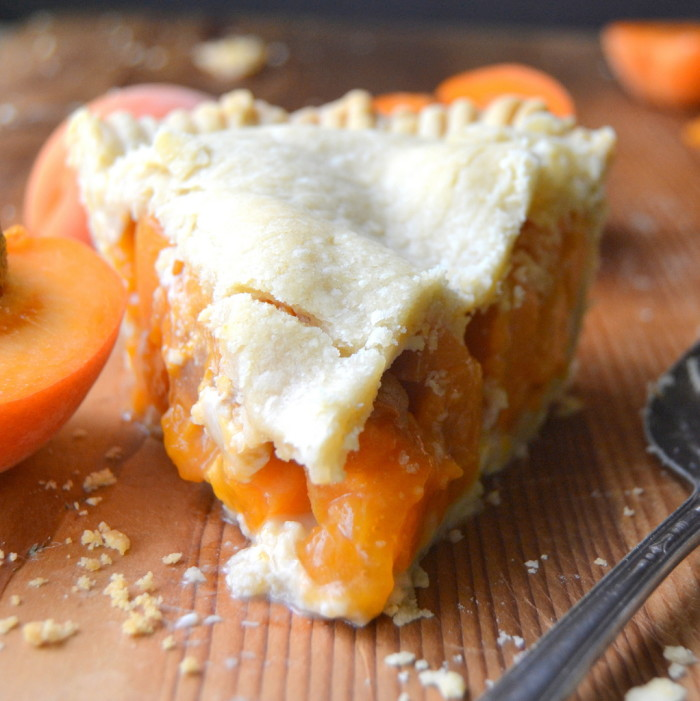 Ripe Apricots baked up in a flaky crust