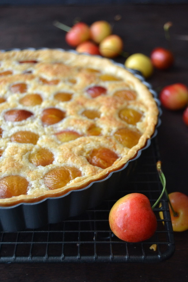Rainier Cherry Almond Tart