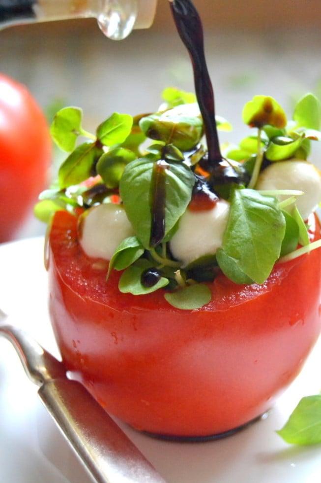 Micro Caprese Salad
