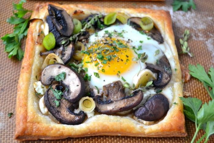 Mushroom and Egg Breakfast Pastries