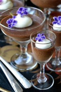 Dark Chocolate Blender Pot de Creme