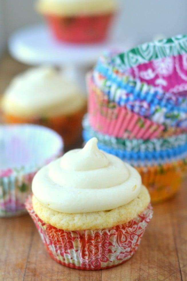 Peaches and Cream Cheese Cupcakes 2