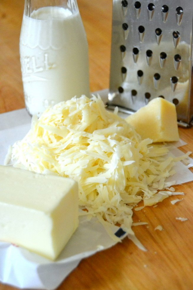 Lemony Fettucine Alfredo ingredients