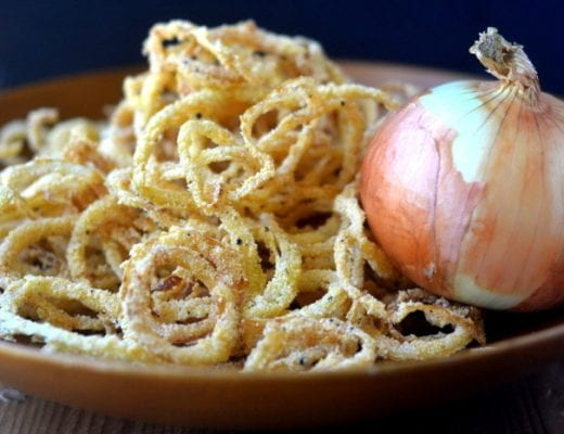 Vidalia Onion Srings with Horseradish Sauce 2
