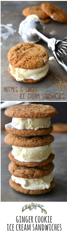 The warm flavors of fall put a new spin on the classic ice cream sandwich