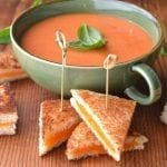 Mini Grilled Cheese Bites with Tomato Soup Dip