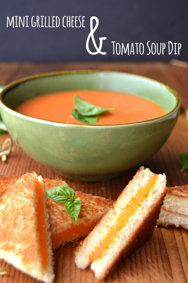 Mini Grilled Cheese Bites with Tomato Soup Dip 3