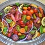 Minimal Monday: Tomato, Onion, and Roasted Lemon Salad