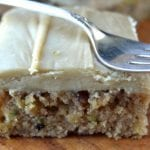 Caramel Frosted Zucchini Pecan Bars