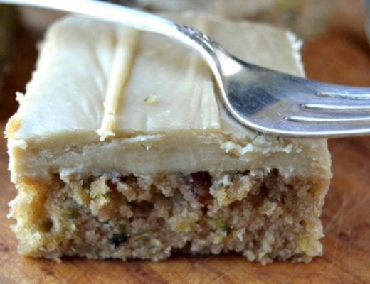 THE BEST Cramel Frosted Zucchini Bars 6