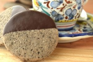 chocolate dipped espresso shortbread