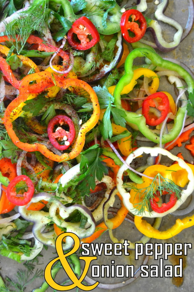 Sweet Bell Pepper and Onion Salad