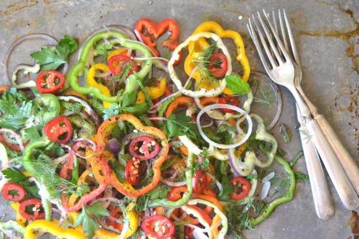 Sweet Bell Pepper and Onion Salad 2