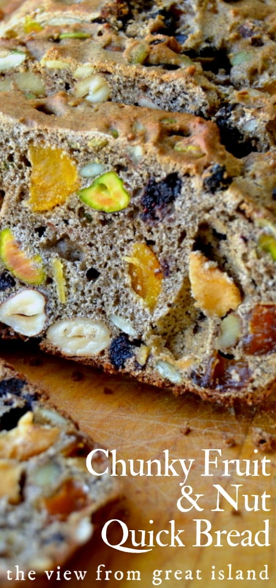 Chunky Fruit and Nut Quick Bread pin