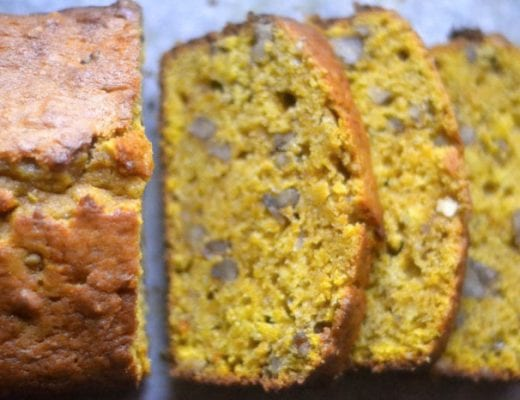 Pumpkin Bread with Toasted Walnuts