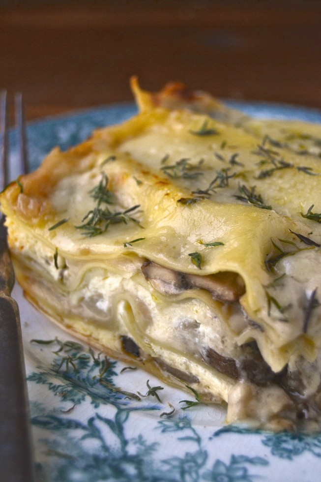 white mushroom lasagna 6